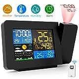 Gafild Stazione Meteorologica Meteo, Termometro Igrometro Wireless con Monitore LCD di Grandi Dimensioni,Termometro Temperatura Interno Esterno Wireless con Sensore Le previsioni del Tempo a casa