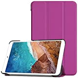Tablet PC Bolsas Bandolera For Xiaomi MI PAD 4 8.0 Funda de tableta Piedra tríptico ligero ORDENADOR PERSONAL Cubierta de espalda dura con tríptico y despertar automático, dormir ( Color : Purple )