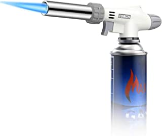 Kitchen Torch, Butane Cooking Torch Kitchen Blow Lighter, Culinary torch Professional Adjustable Flame with Reverse Use & ...