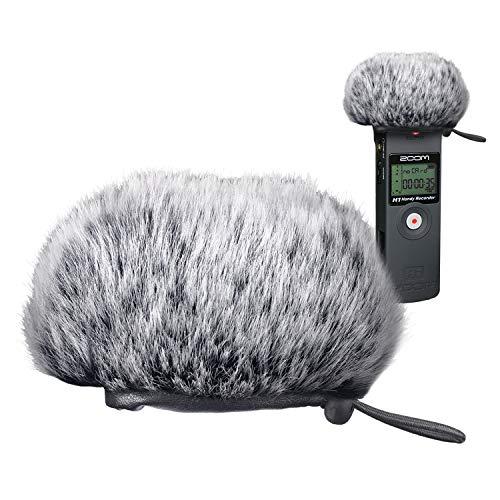 YOUSHARES Zoom H1 Recorder Short Furry Parabrezza Muff, Filtro Pop/Paravento Shield per Zoom H1 Handy Portable Recorder
