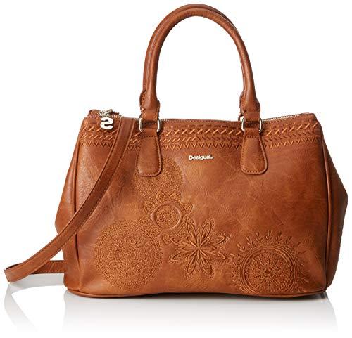Desigual Damen Bag Dark Amber Cabo Women Henkeltasche, Braun (Camel), 15.3x23.3x33.8 cm