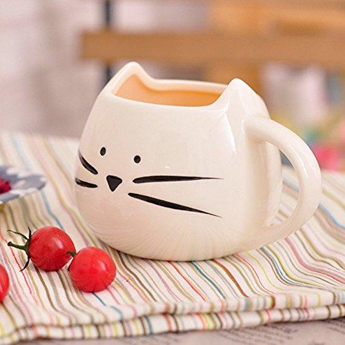 Graziosa Tazza di Ceramica per Caff Egrave 2018 a Forma di Adorabile Gatto Tazza in Porcellana per Espresso Latte o Acqua