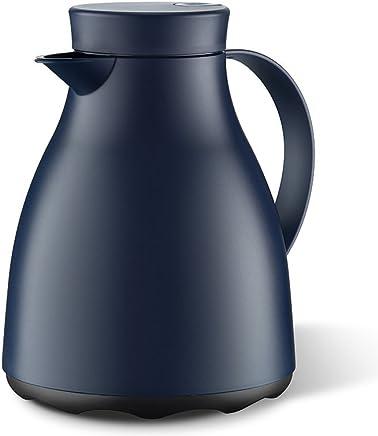 爱慕莎(emsa)德国原装进口易洁系列保温壶暖瓶/暖壶玻璃内胆 欧式热水瓶 1L 深蓝色