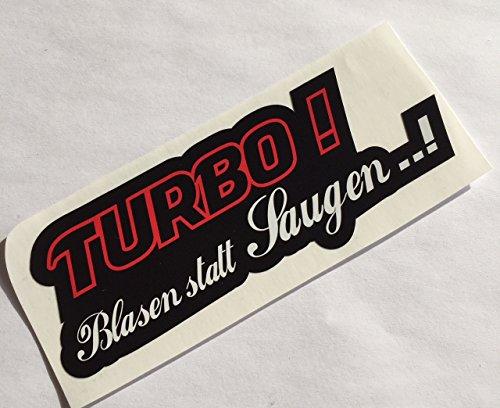 Schönheits Shop Turbo Blasen statt saugen Autoaufkleber Tuning Sticker Milf Decal Dapper 6 Zylinder Aufkleber ShockerAuto