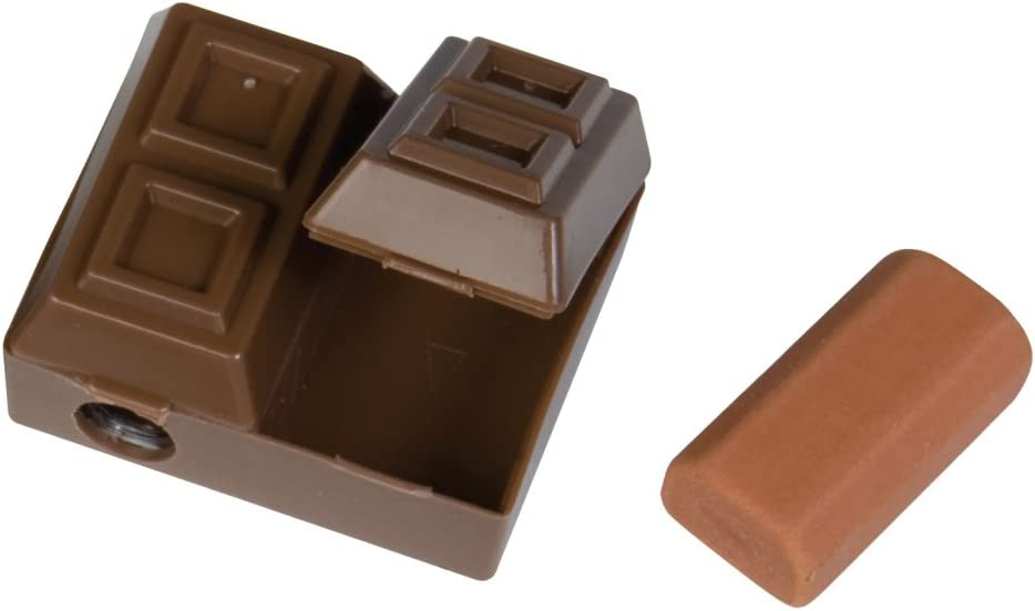 Raymond Max 50% OFF Geddes Chocolate Bar 2-in-1 Sharpener Pencil Eraser with Direct store