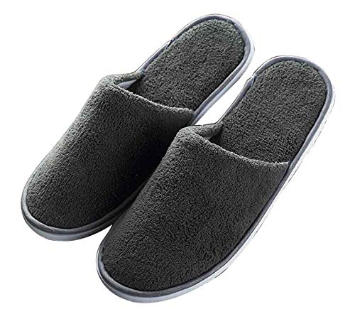 Black Temptation Set di 10 Pantofole USA e Getta monouso Pantofole Antiscivolo Mono Size [Grigio]