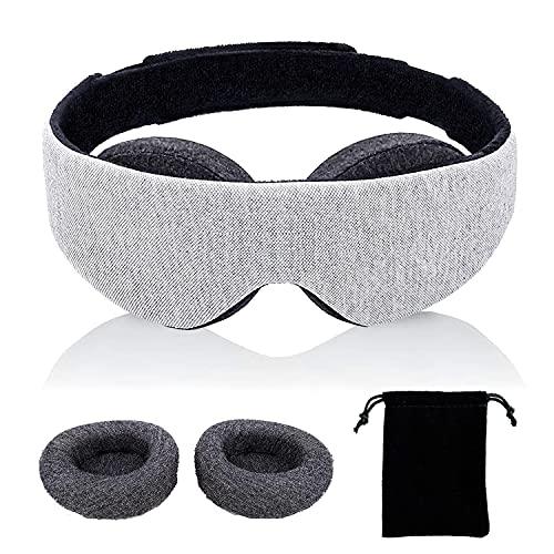 KAIBAOR アイマスク アイカップは調整可能 男女兼用 立体型 安眠 遮光 睡眠目隠し 光を完全に遮断 快眠 低反発 圧迫感なし 究極の肌触り 軽量 柔らかい 昼寝 仮眠に最適 旅行 収納袋付き