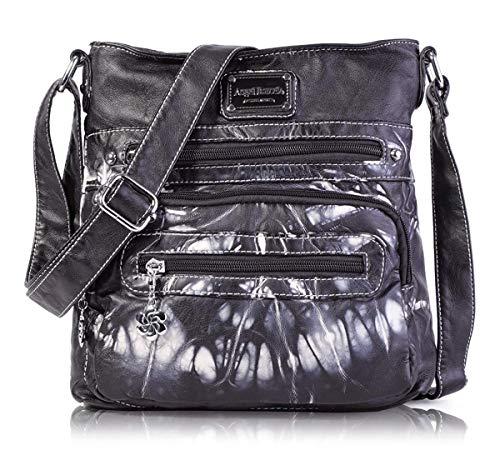 Angel Barcelo Crossover Geldbörse und Handtaschen Umhängetaschen für Frauen Schwarz