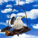 Pommerntraum  | Windspiel maritim - Gartendeko - Mobile - Flattermöwe - Flattervogel - Möwe mit Federn auf AST