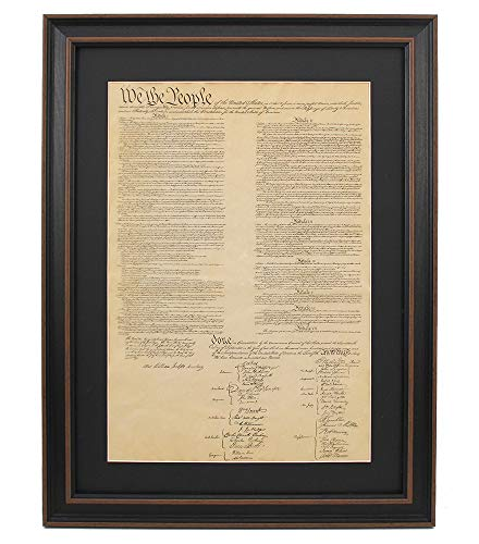United States Constitution, Framed Poster Size : Large Authentic Replica Constitution; Law School Gift