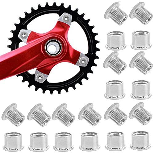 FIGFYOU 10 Stück Kettenblattschrauben Stahl Kurbelschraube Fahrrad Kurbelgarnitur Schrauben Fahrrad Kettenblatt Schrauben Kurbelgarnitur Teile für Mountainbike Rennrad, BMX, MTB(Silber)
