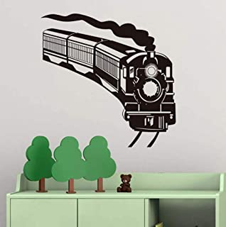Huanxidp Wall Stickers Lovely Cartoon Train Pattern Wall Sticker Removable Wall Decals for Kids Room Children Bedroom Home...