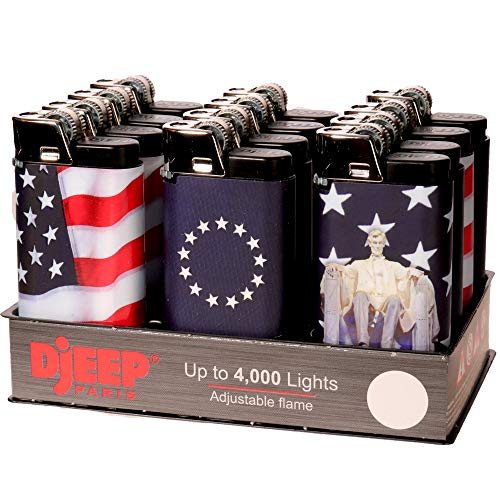 12 Djeep Stars and Stripes Lighters Tray