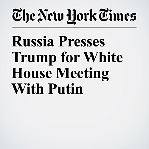 Russia Presses Trump for White House Meeting With Putin copertina