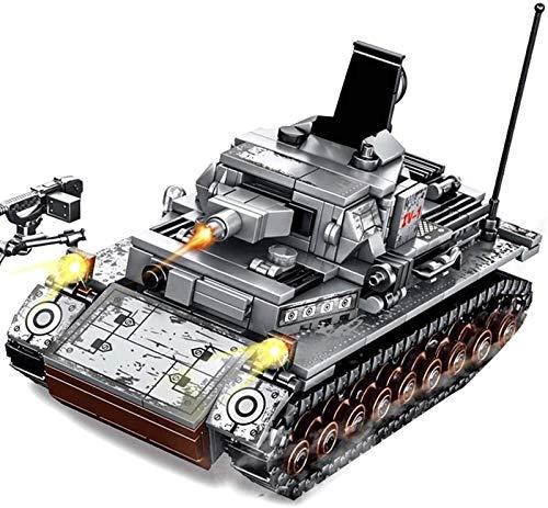 Egrus Bloques de construcción de Tanques Militares, 596 Piezas del ejército de Armas del ejército Modelo alemán IV Tank Toy para niños Adultos compatibles con Lego