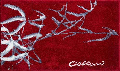 Grund COLANI Exklusiver Designer Badteppich 100% Polyacryl, ultra soft, rutschfest, ÖKO-TEX-zertifiziert, 5 Jahre Garantie, Colani 23, Badematte 60x100 cm, red