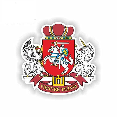 A/X 13 cm 12,5 cm per Adesivi per Auto Stemma della Lituania JDM Laptop Fine Decalcomanie