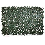 Windscreen4less Artificial Leaf Faux Ivy Expandable/Stretchable Privacy Fence Screen (Double Sided Leaves)