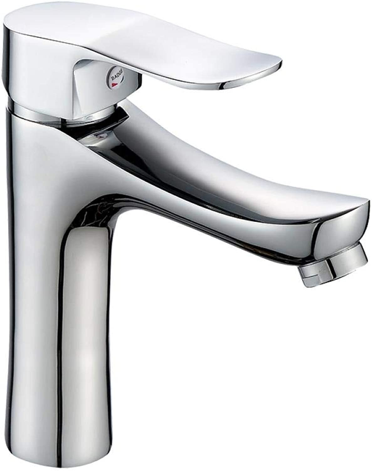 Copper Hot and Cold Single Handle Single Hole Bathroom Washbasin Mixer Z407