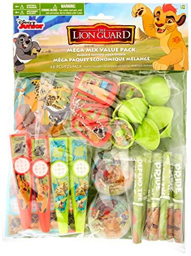 amscan Disney The Lion Guard Mega Mix Value Pack Favors, Party Favor