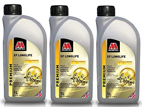 Millers Oils XF Longlife 5w30 C1 volledig synthetische motorolie, 3 liter