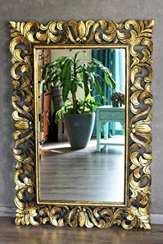 Naturesco Barockspiegel Wandspiegel Barock Holzrahmen Gold antik 120cm x 80cm, 150cm x 80cm LengthRange 120cm x 80cm