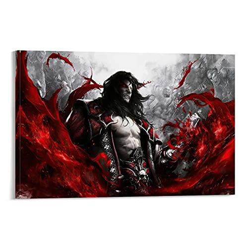 Castlevania Poster décoratif sur toile Motif Seigneur de l'ombre 60 x 90 cm