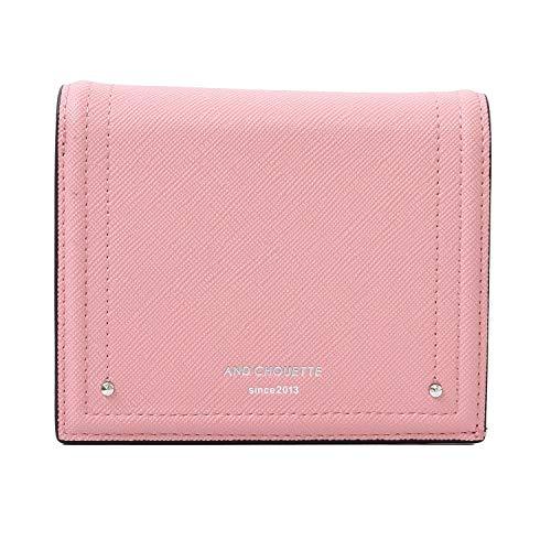 サマンサタバサ & chouette 正規品 アンドシュエット 財布 二つ折り財布 リラ 刻印 コンパクト シンプル (名入れなし, ピンク)