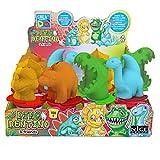 CREADO' - Dino Dentino 1 bote surtido con extrusor en forma de dinosaurio y 150 g pasta moldeable para niños.