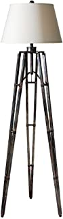 Tustin Floor Lamp Off White Shade/Oxidized Bronze Base Dimensions: 20