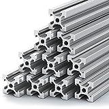 BC Labs T Slot Aluminum Extrusion - [ 10 Pack ] 2020 Aluminum Extrusion [ V Type ] DIY   Extruded Aluminum T Slot   2020 Extrusion   T Slot Rail   Aluminum T Track   Slotted Aluminum Extrusion 2020  
