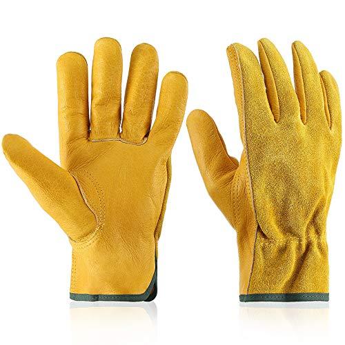 Garden Gloves Leather Gardening Gloves Thorn and...