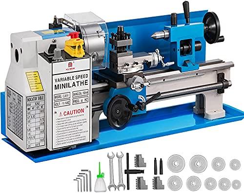 VEVOR Tornio Per Metallo Tornio Da Banco Di Precisione (7 x 14 Pollici)