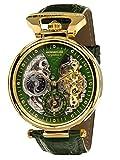 Calvaneo 1583 Orologio da polso da uomo Compendium Gold Green, analogico, automatico, cinturino in pelle blu 107925