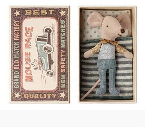 Maus im Bettchen - Kleiner Bruder, 10 cm