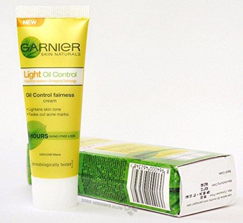 Garnier Skin Naturals Light Oil Control Fairness Cream, 8 Stunden, 20 ml (reines Zitronenessenz, verblasst Akneflecken – hellt den Hautton)