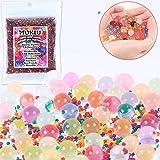 MOKIU 40000pcs Perles d'eau colorées Balles de l'eau Gel Perles d'eau en Pleine