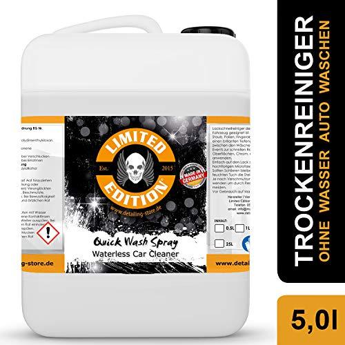 Limited Edition - Trockenreiniger - 5,0 Liter - Quick Wash Spray - Waterless Car Cleaner für Lack und Folie - Ohne Wasser Auto waschen - für Innen und Außen - Mango Duft… (5,0 Liter)