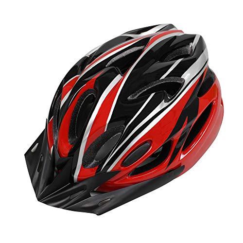 EDWARD & CO. Casco de ciclismo para adultos, casco de bicicleta deportiva de carretera y bicicleta de montaña, ligero con visera extraíble y trazador de líneas ajustable.