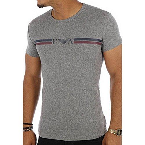 Emporio Armani Underwear Herren 1110357A525 Schlafanzugoberteil, Grau (Grigio Melange Scuro 06749), X-Large