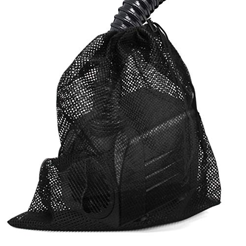 Coolrunner Pump Barrier Bag, 12'x 15.7' Pond Pump Filter Bag, Black Media Bag Large Pump Mesh Bag for Pond Biological Filters(Black)