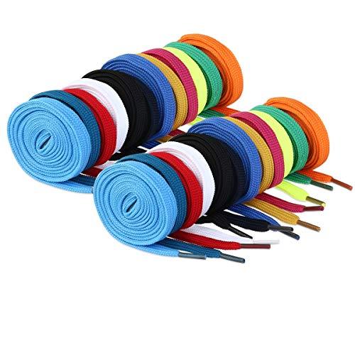 WINOMO lacci per scarpe 12 Paia stringhe scarpe per bambini adulti scarpe da sport ginnastica scarpe da ginnastica (colori casuali)