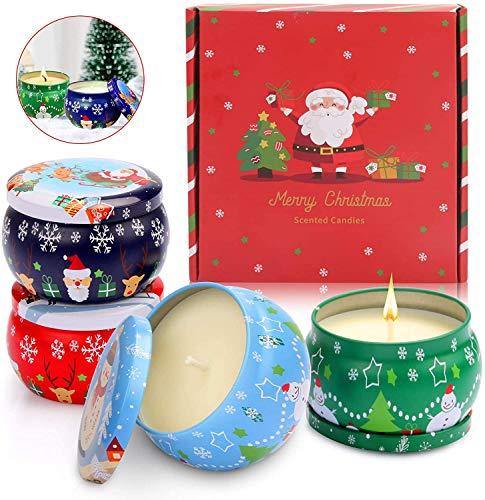 ASANMU Regalo de Velas Perfumadas para Navidad, Regalos Originales para Mujer, Cera de Soja Natural, Velas de Aromaterapia, Vela Aromática Regalo para Boda/Baño/Yoga/Cumpleaños/Día de San Valentín