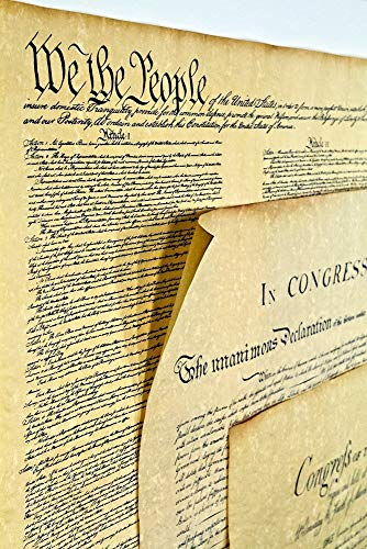 Declaration of Independence 16 X 14, Constitution of the U.S. 18.5 X 12.5, Bill of Rights 16 X 14 Posters