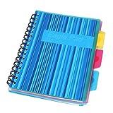 Eagle Cuaderno de anillas A5, para 3 asignaturas o temas distintos, papel lineado, 125 hojas, color azul
