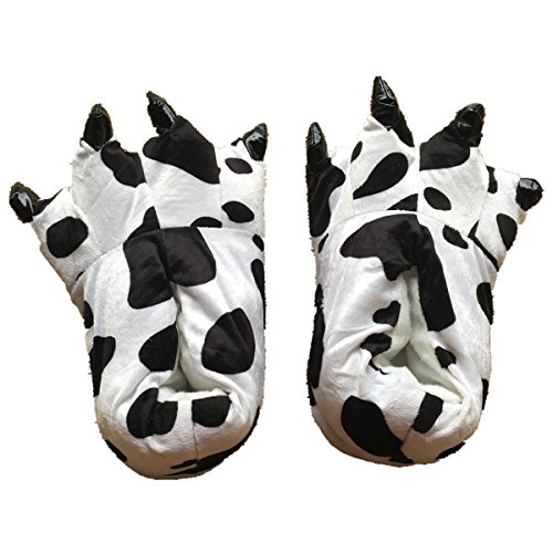 Unisex Plush Paw Claw House Slippers Animal Costume Shoes Cow M