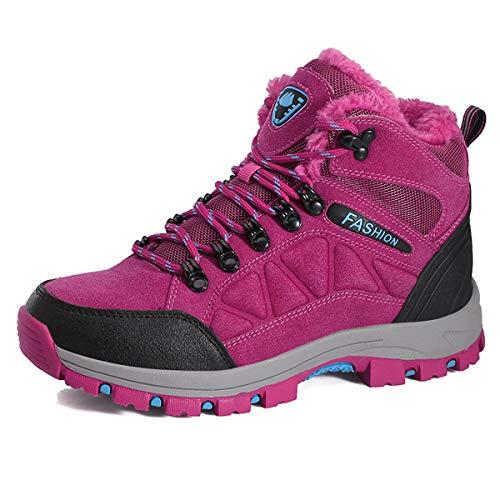 Unisex hoge top waterdichte outdoor wandelschoenen met warme voering anti-slip rubberen zool reizen wandelen wandelschoenen voor mannen en vrouwen