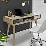 Furniture Octopus Scandinavian Laptop Computer Desk - Retro Nordic Table - White Grey Scandi Style