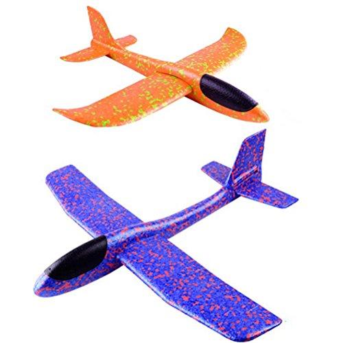 YeahiBaby Planos de Espuma | 2pcs Que lanzan los planeadores de Whirly Glider para los Cabritos, favores de la Fiesta (Color al Azar)