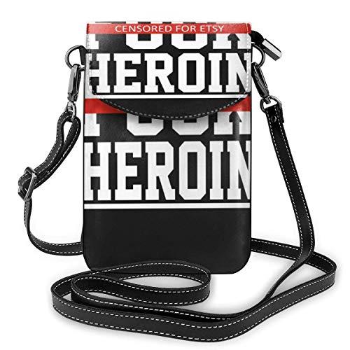 Crossbody Handy Geldbörse Explizite Fick Heroin Lustige Frauen PU Leder Multicolor Handtasche mit verstellbarem Riemen